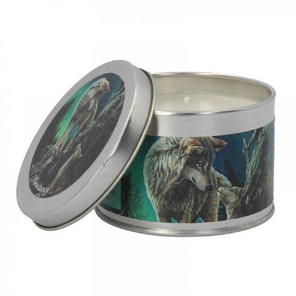 LISA PARKER Guidance Wolf Tin Candle by Nemesis Now